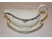 Wedgewood Osborne Sauce Boat and Stand