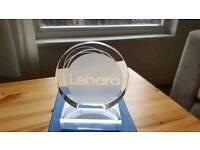 Lebara Award Glass