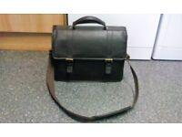 John Lewis Leather Briefcase Laptop Bag Dark Brown
