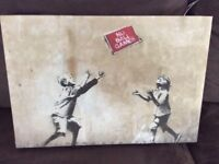 Banksy Canvas 14 x 20 inch