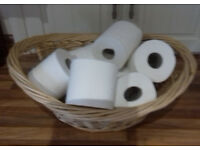 top quality expensive wicker basket toilet roll holder for bathroom (RRP £19.99) selling very cheap