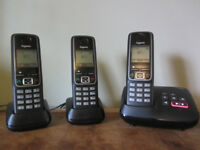 Gigaset Triple Cordless Home Phone Set With Answer Machine