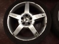 5 spoke 5 stud AMG alloy wheels from ACLASS merc including tyres