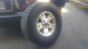 "33"" All-Terrain T/A  on 18"" rims x4"