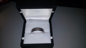 BRAND NEW Men's band ring - for sale or swap- farm equipment,etc