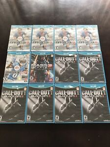 12 brand new factory sealed Wii U games