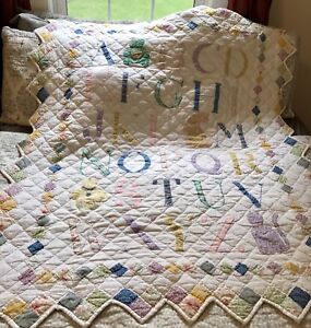 Beautiful ABC quilt