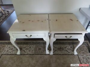 2 Side Tables - Great Quality - Shabby Chic Very Good Condition