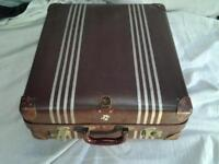 vintage old suitcase from the 40 / 50s can be split into two for cat/dog beds/