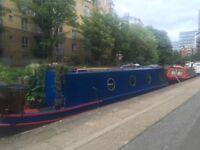 Narrowboat widebeam barge liveaboard london