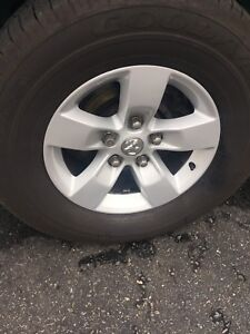 """17"""" Dodge Ram wheels and tires 265-70-17"""