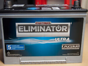 Eliminator AGM Car Battery.