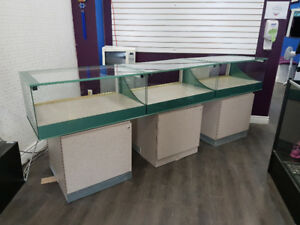 Long Counter, Glass Display, 3 piece set
