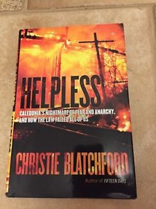 Helpless by Christie Blatchford hard cover
