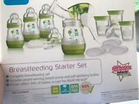 MAM breastfeeding starter set with manual pump