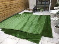 Artificial grass offcuts from the grass factory