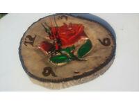 Beautifully handmade Clock from real walnut tree