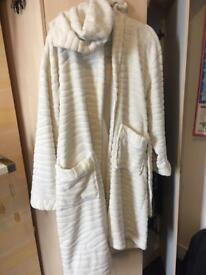 Women's fluffy dressing gown