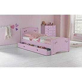 Mia Single Bed Frame - Pink
