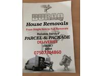 House Removals and parcel deliveries