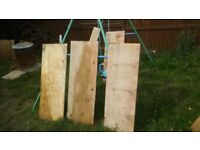 12 plywood boards for sales with 4 stakes. I have about quarter of oil left thrown in deal.