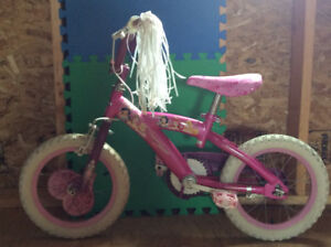 """Little Tikes baby/toddler swing and girls 14"""" bicycle for sale"""