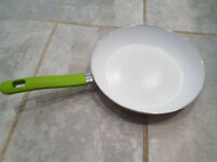 White Ceramic Frying Pan. Used in good condition.