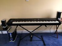 Roland RD700GX Stage Piano and Clarifier RS501 sound system amp and speakers