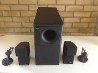 Bose Acoustimass 5 series 111 black subwoofer and rain cube speakers system