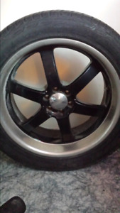 Motosport boss rims and low pro tires