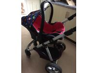 Car seat and frame