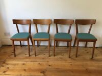 1950s Vintage Retro Kitchen Dining Chairs Reupholstered