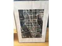 Large New York City Map print