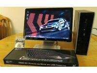 HP 8000 Elite Business PC Desktop Computer & HP Widescreen 21