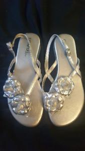 women's silver sandals