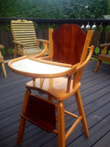 Beautiful Rustic wooden high chair