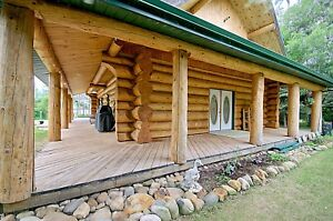 ACREAGE PROPERTY FOR SALE with  LOG HOME & GARAGE
