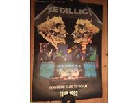 Metallica tour posters x2