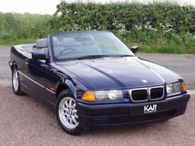 BMW E36 318i SE Convertible, Manual, 1997 / P Reg, Only 50k Miles, MOT: 1 Year