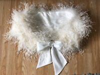 Luxury Ostrich Stole- By Sasso Bridal