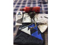 MSR WhisperLite Int. 600 Multi Fuel Camping Stove, MSR Pressurised fuel bottle, Sigg fuel bottle