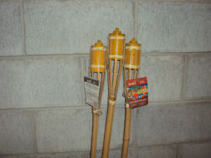 3 Tiki Torches - Never Used