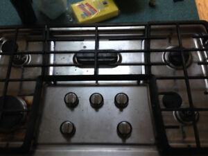 Natural gas cook top