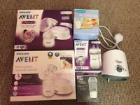 2 Philips Avent Breast Pumps with Accessories