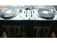 2 rare vestax pdx d3s turntables and Gemini mixer