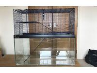 Large Gerbilarium / Hamster Cage & accessories