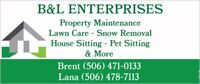 Property Maintenance Lawn Care Snow Removal Pet & House Sitting