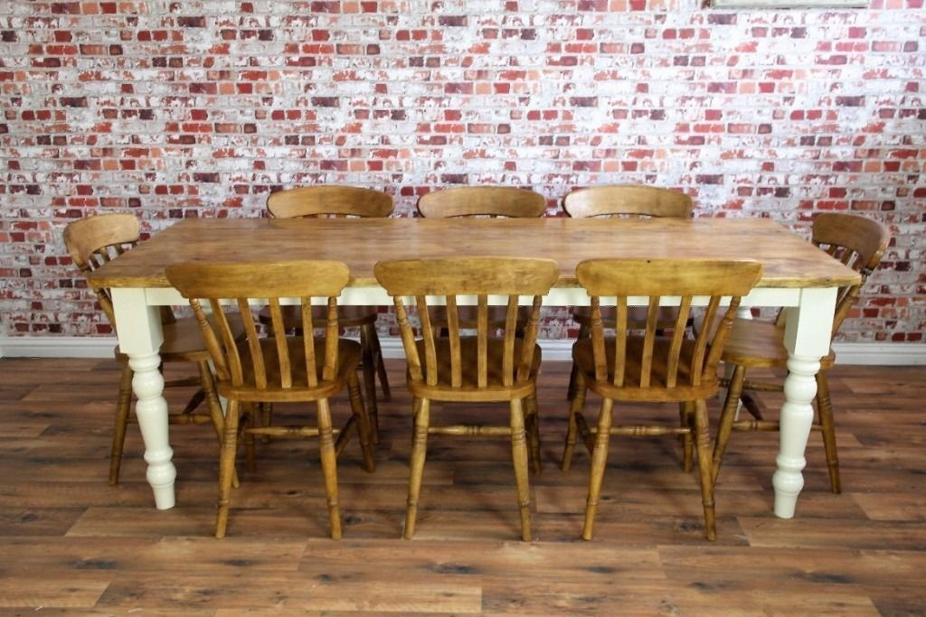Rustic Farmhouse Reclaimed Pine Kitchen Dining Table SetRange of Sizesin Chelsea, LondonGumtree - Price includes free delivery. A beautifully constructed, hand finished solid reclaimed pine rustic farmhouse kitchen dining table. Each tables comes with a set of brand new rustic farmhouse dining chairs, beautifully made from solid Beech wood. From...