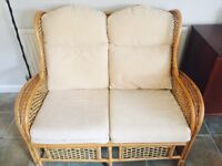 Sofa set - 2 seater, armchair and footstool