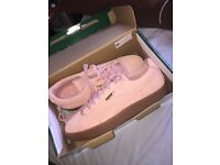 Womens Coral Cloud Puma Suede Classic+ UK Size 6. NEVER WORN- has original box and labels